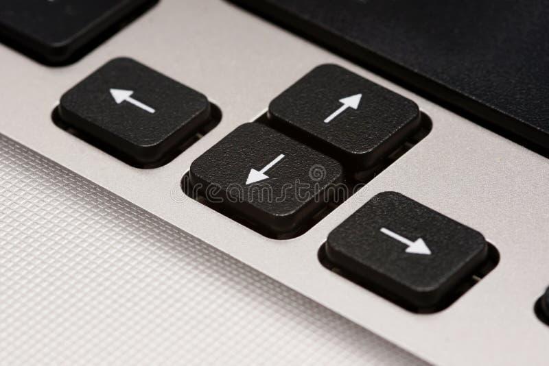 Touches de déplacement du curseur images stock