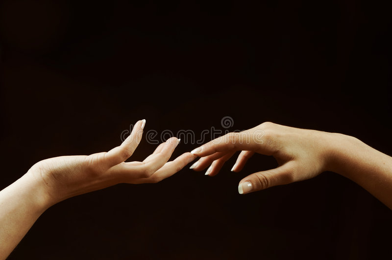 Touching royalty free stock image
