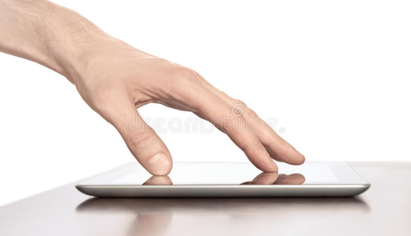 Download Touching On Apple Ipad Digital Tablet PC Stock Images - Image: 23854624