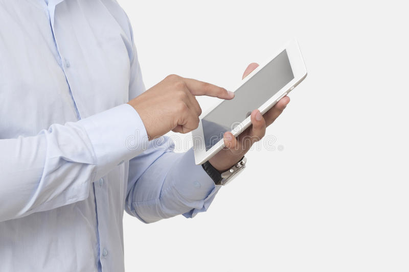 Download Touching The Digital Tablet Stock Photo - Image: 33509432