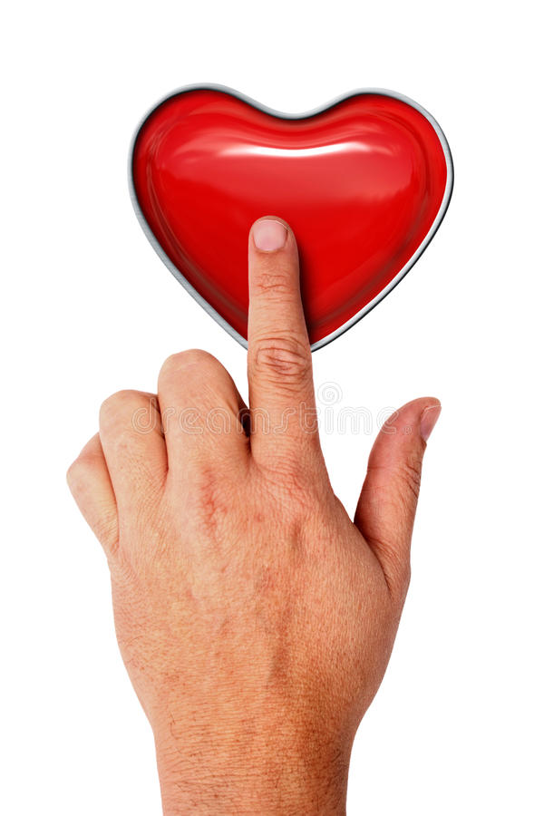 Download Touching heart stock photo. Image of control, body, heart - 26410550