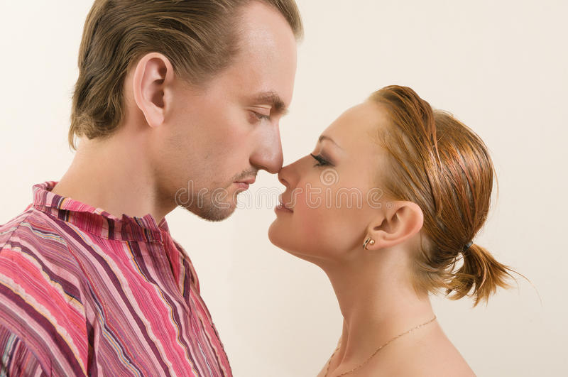 Touching noses royalty free stock images