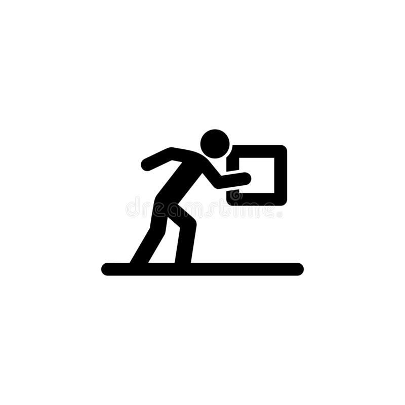 Touching a person touches icon. Simple glyph vector of universal set icons for UI and UX, website or mobile application. On white background royalty free illustration