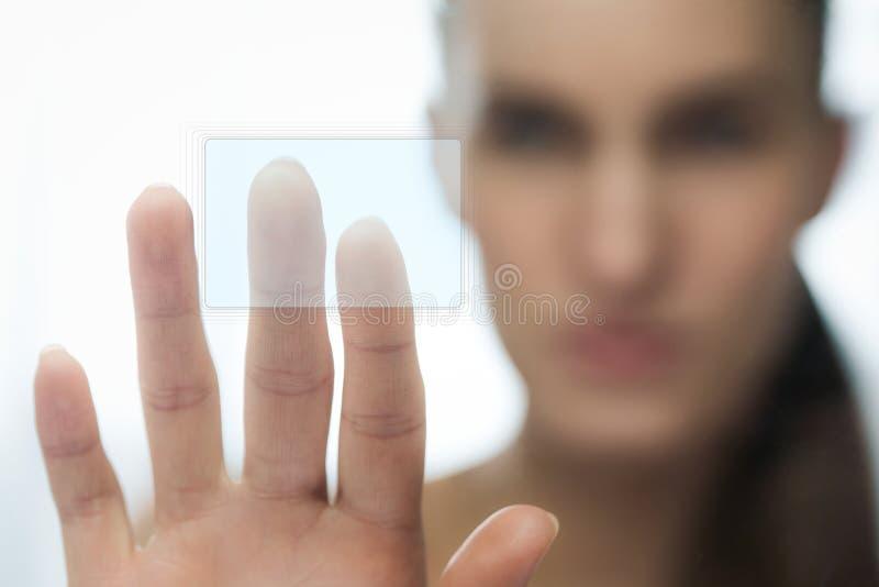 Download Touching sencor screen stock image. Image of portrait - 24512227