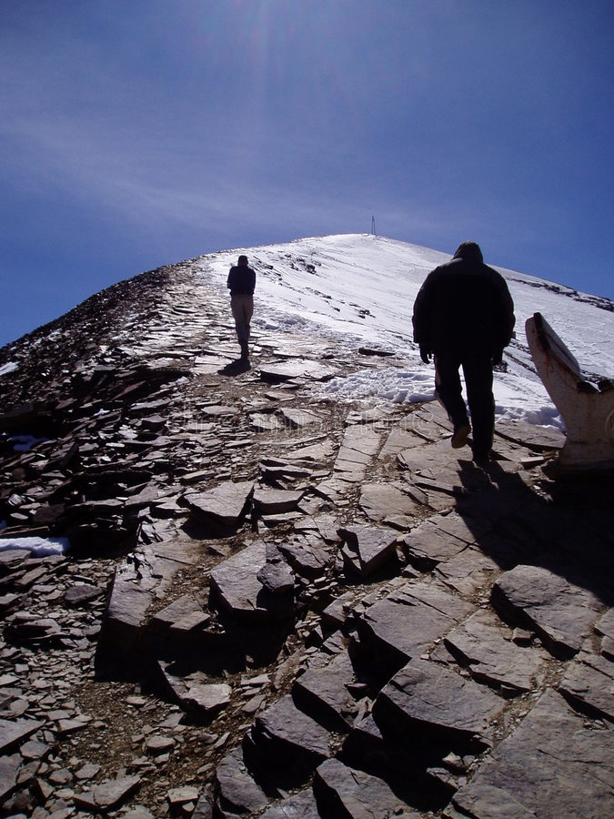 Touching the Void royalty free stock photography