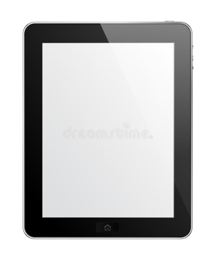 TouchPad. Isolated black Touch Pad with empty screen and stock illustration