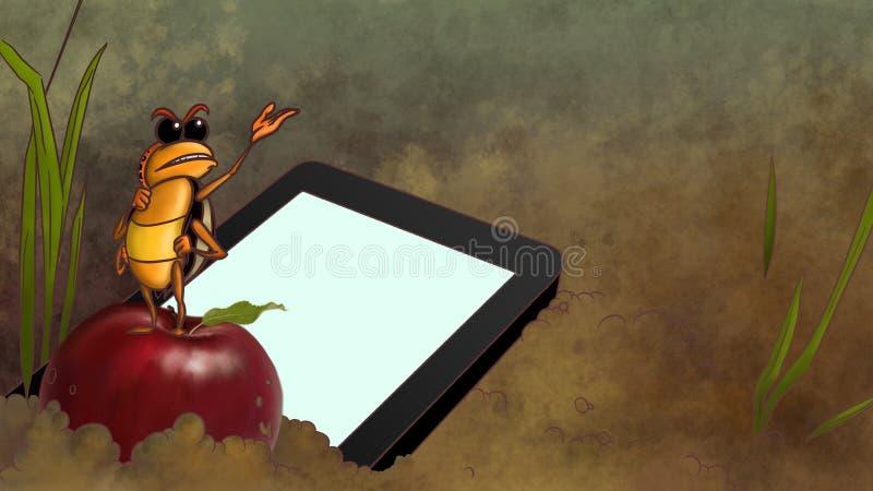 Touchpad opuszczający w brudzie ilustracja wektor