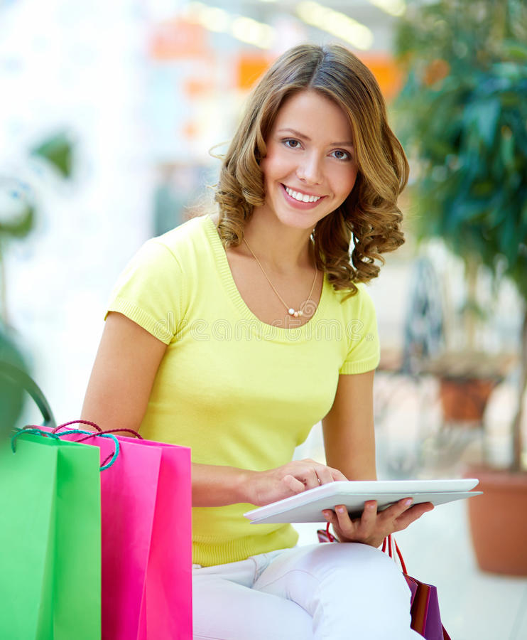 Download Touchpad shopping stock photo. Image of modern, retail - 32735854