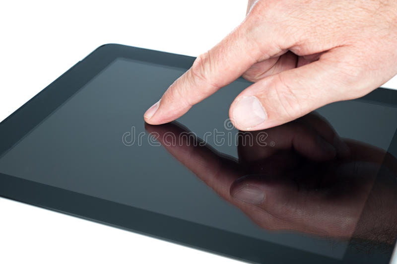 Download Touchpad tablet stock image. Image of internet, pointing - 26105589