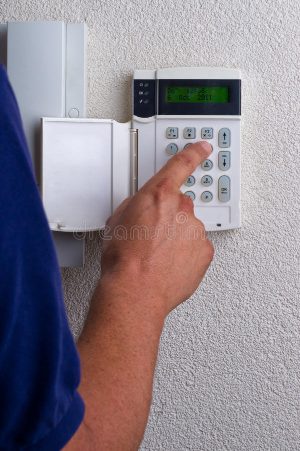 Touchpanel To Activate The Alarm Royalty Free Stock Photo