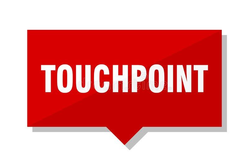 Touchpoint czerwona etykietka ilustracja wektor