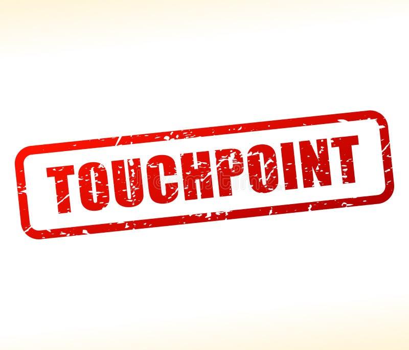 Touchpoint teksta znaczek royalty ilustracja