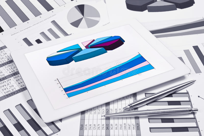 Download Touchscreen With Charts And Diagrams Stock Photo - Image: 33721768