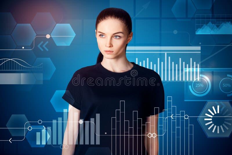 Touchscreen en financiënconcept stock illustratie