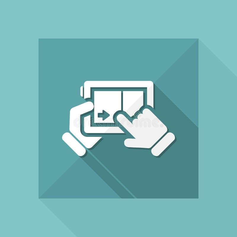 Touchscreen glijdend pictogram vector illustratie