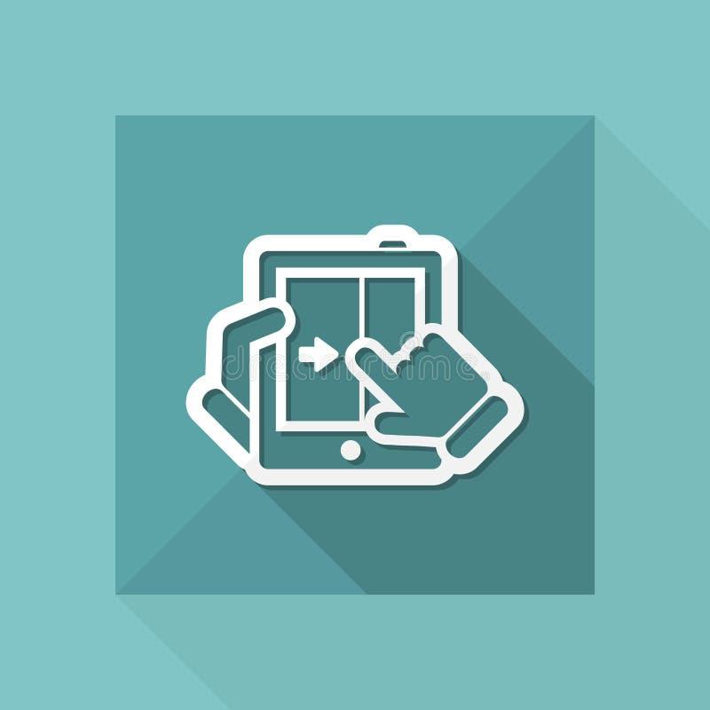 Touchscreen glijdend pictogram royalty-vrije illustratie
