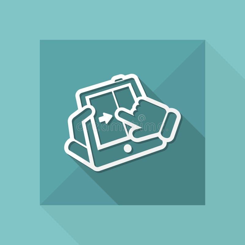 Touchscreen glijdend pictogram stock illustratie