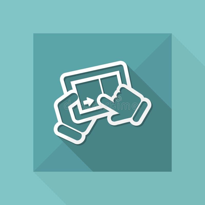 Touchscreen het glijden royalty-vrije illustratie