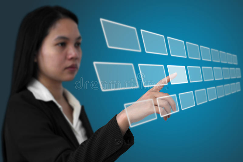 Touchscreen interface royalty free stock photography