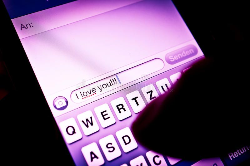 Touchscreen Messaging Stock Photography