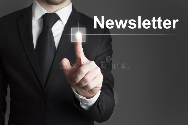 Touchscreen Newsletter Stock Photo