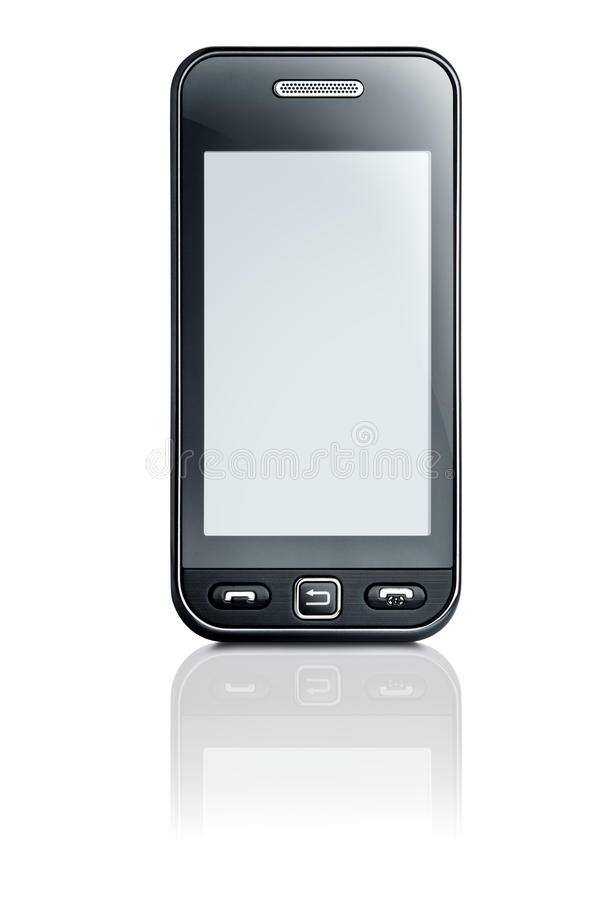 Touchscreen phone stock image