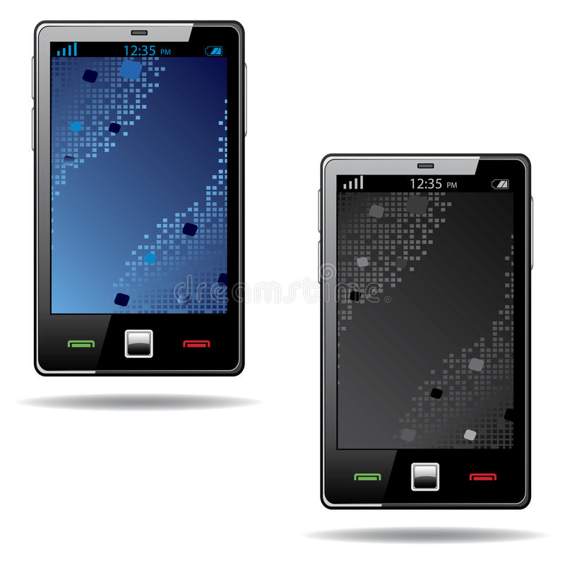 Download Touchscreen Smart Phone With Abstract Screen Stock Vector - Illustration: 24890756