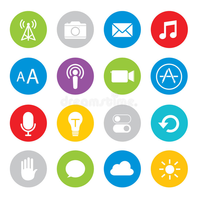 Touchscreen smart phone mobile application button icon Vector illustration vector illustration