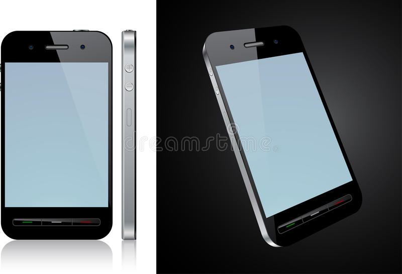 Touchscreen smartphone concept. Vector Concept communicator. No transparency effects. EPS8 Only stock illustration