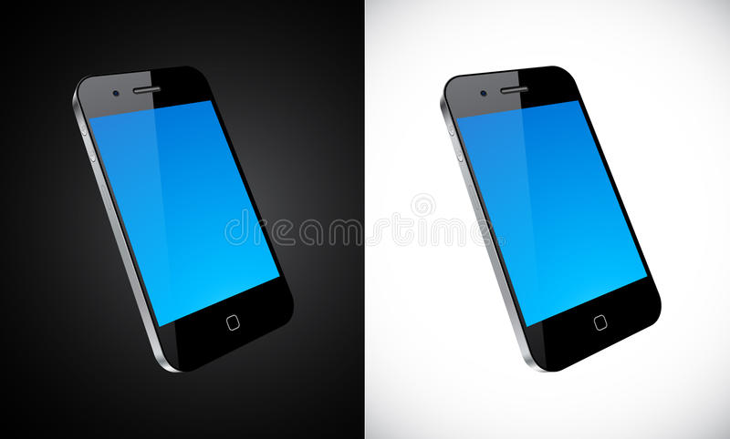 Touchscreen smartphone concept. Vector Concept communicator. No transparency effects. EPS8 Only royalty free illustration