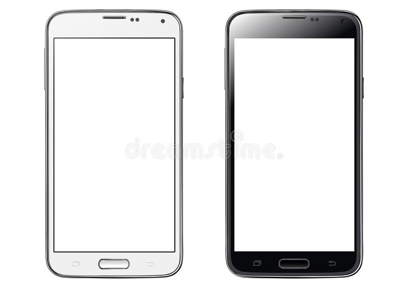 Smartphone white screen isolated stock illustration