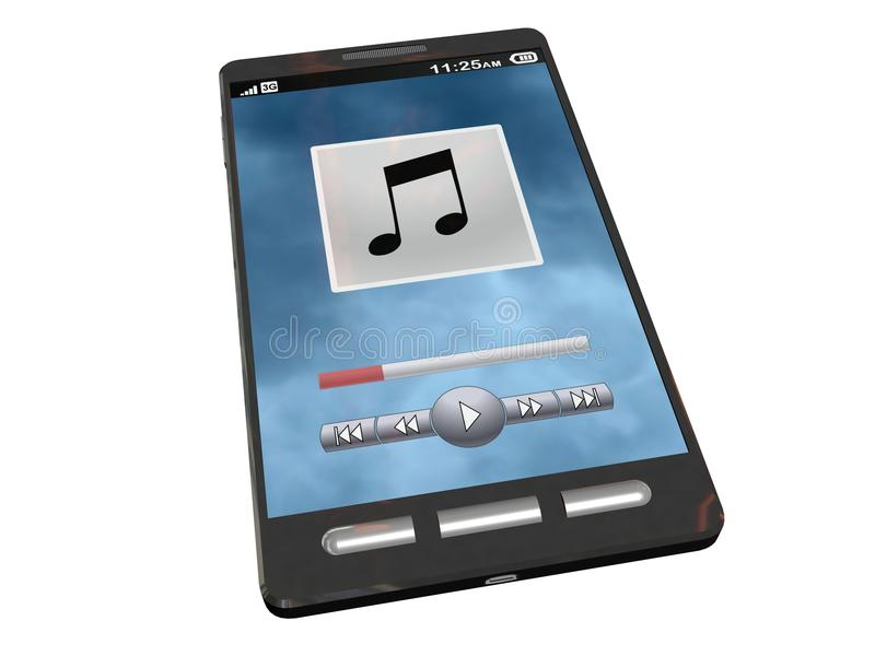Download Touchscreen Smartphone Playing Some Music Stock Illustration - Image: 19008369