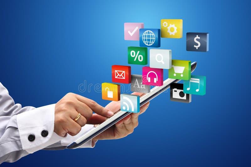 Touchscreen tabletPC met toepassing vector illustratie