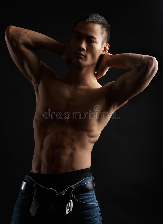 Tough asian guy royalty free stock images