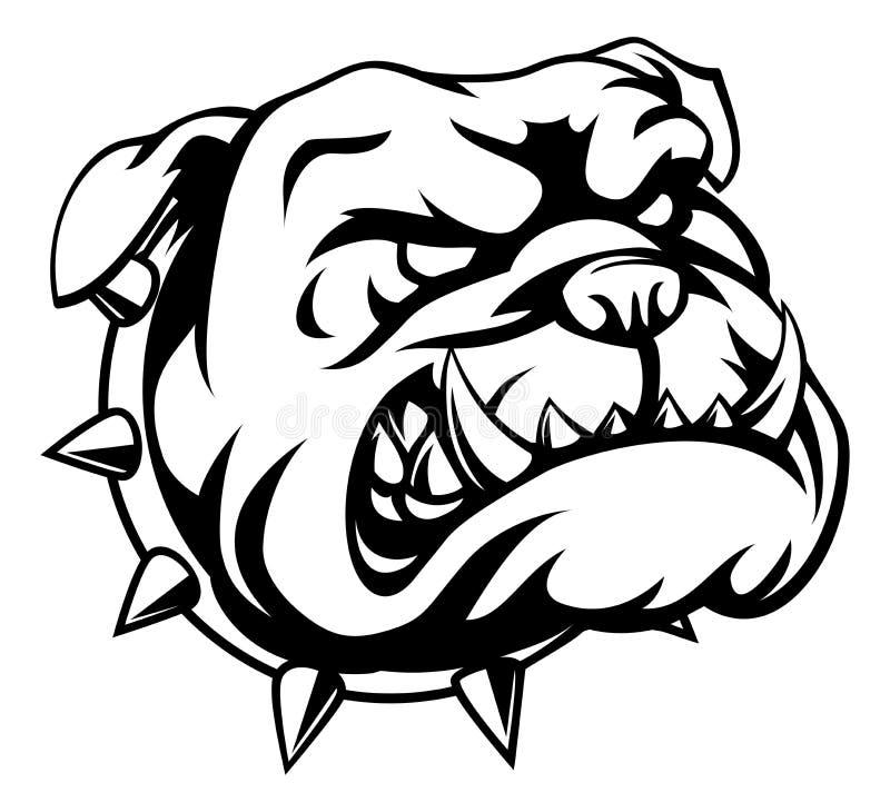Tough Bulldog. A mean looking cartoon bulldog stock illustration