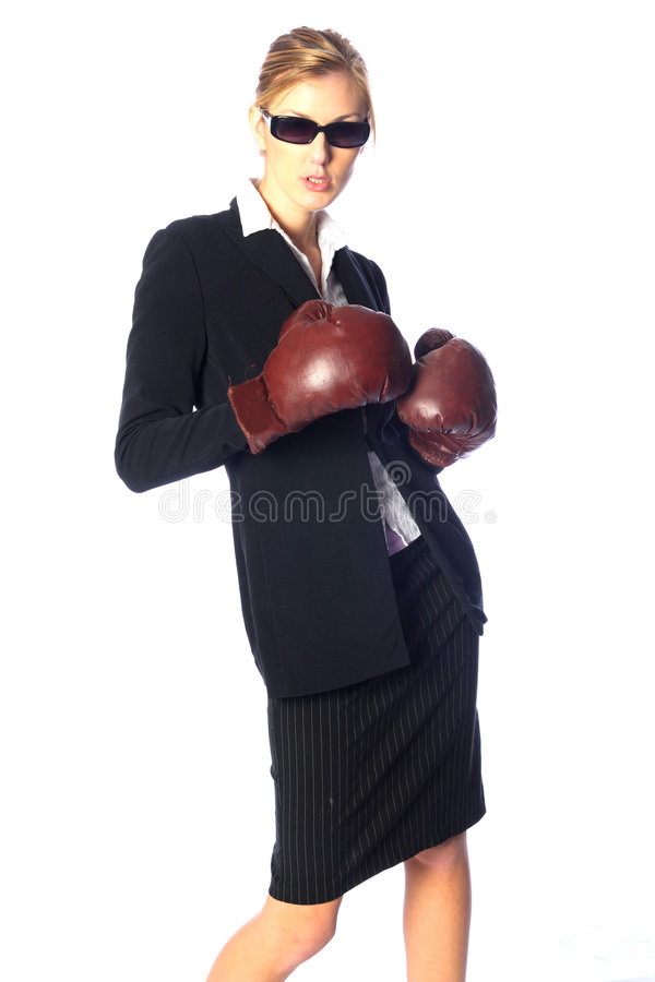 Tough business woman royalty free stock images