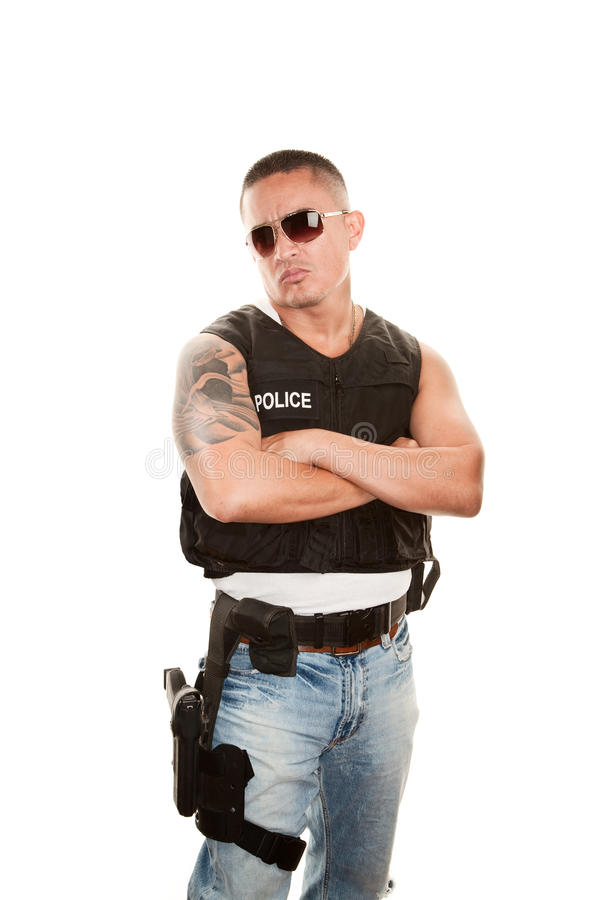 Tough Cop Royalty Free Stock Images