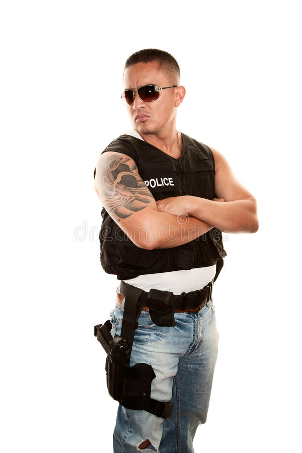 Download Tough Cop Stock Photography - Image: 12659362