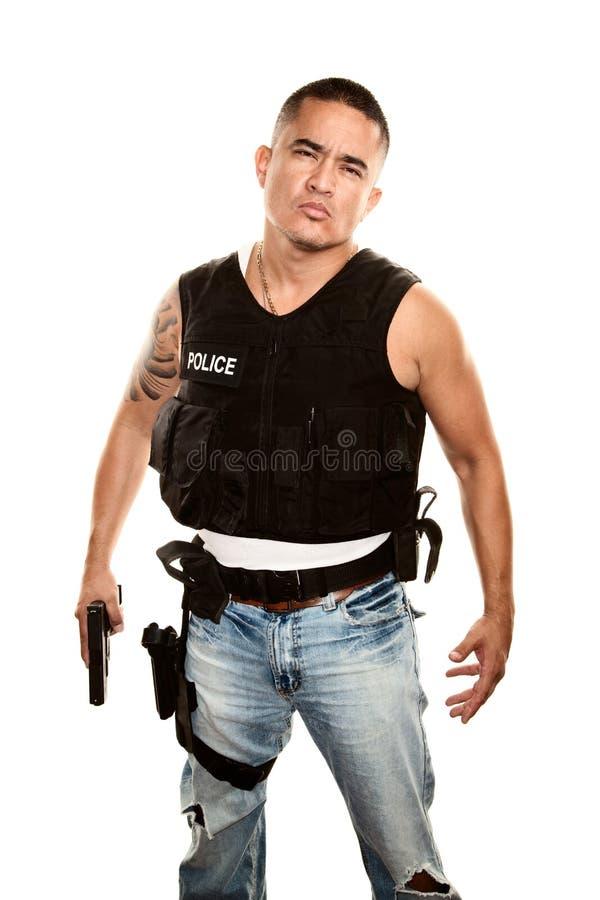 Download Tough Cop stock photo. Image of macho, dangerous, bulletproof - 12659560