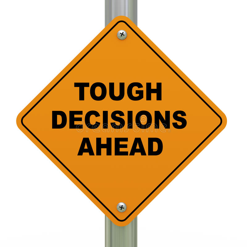 Download Tough Decisions Ahead Road Sign Stock Illustration - Image: 26071617