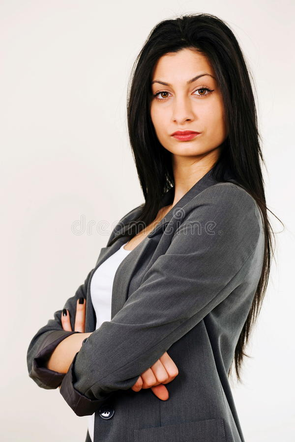 Tough female boss royalty free stock photos