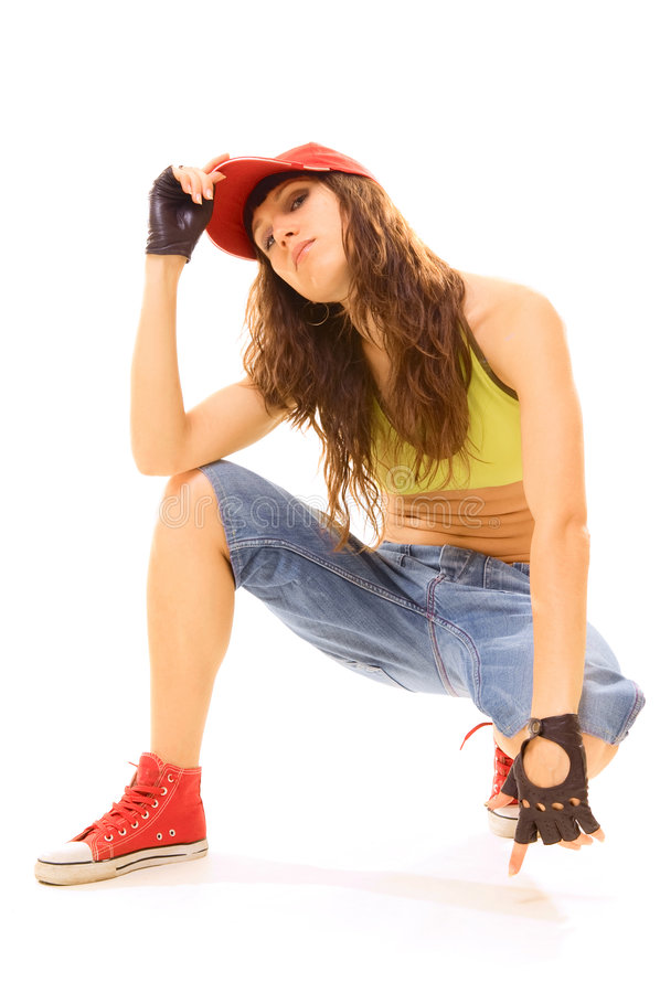 Tough girl looking proudly royalty free stock images