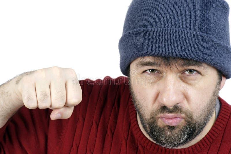 Download Tough guy punching stock image. Image of people, blow - 22291903