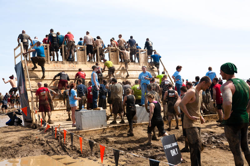Download Tough Mudder: Racers Entering The Walk The Plank Editorial Photo - Image: 30715691