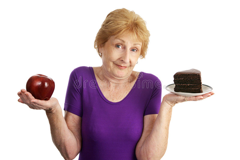 Tough Nutrition Choices royalty free stock image