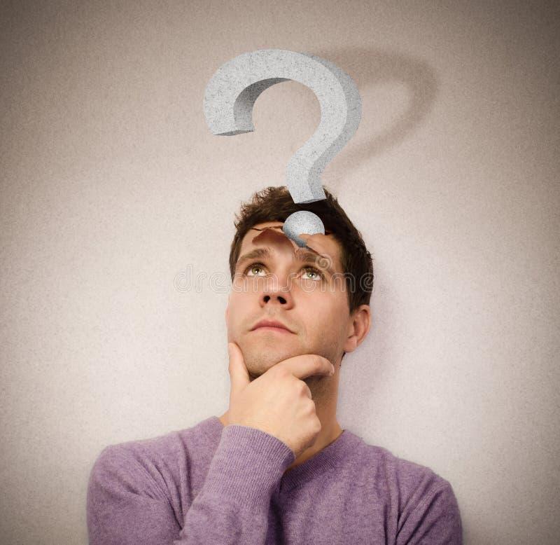 Tough question royalty free stock photos