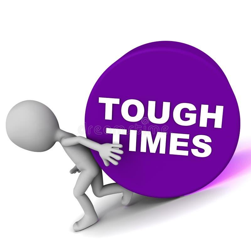 Tough times stock illustration