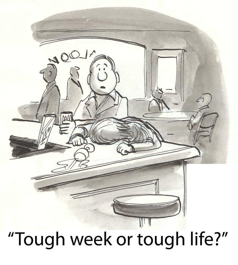 Download Tough week stock illustration. Image of comics, cartoons - 23630888