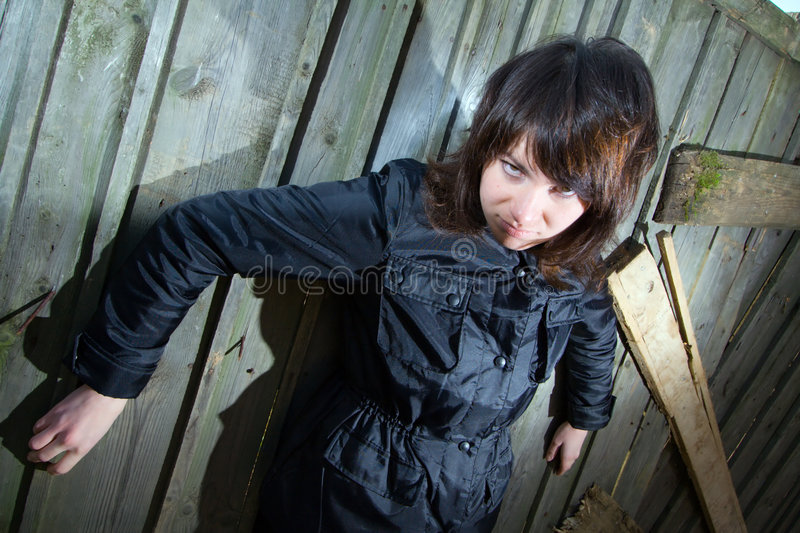 Tough young girl royalty free stock image