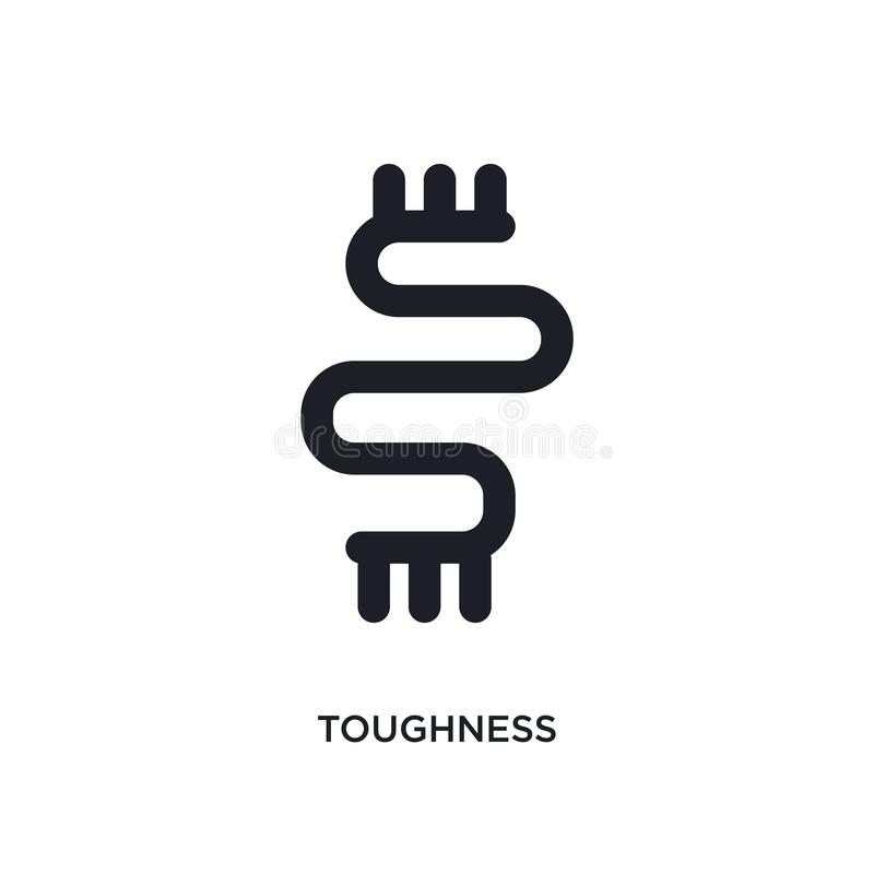 Toughness isolated icon. simple element illustration from zodiac concept icons. toughness editable logo sign symbol design on. White background. can be use for vector illustration